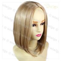 Wiwigs Amazing Medium Blonde Soft Face Framed Bob Skin Top Ladies Wig