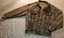 Vintage 1980s Acid Wash Levi's Denim Jacket Size L Black Fashion Denim Jeans