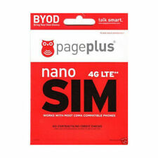 Page Plus Dual 4G Lte Sim Card Standard Micro without Contract - New