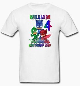 PJ Masks Family Birthday T-Shirt, PJ Masks Custom Shirt, Personalized PJ Masks