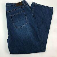 Nautica Jeans Mens 40 Blue Straight Leg 100% Cotton Medium Wash 5 Pocket Design