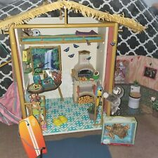 American Girl 2016 Lea's Rain Forest Doll House+Free extension Room &Accessories