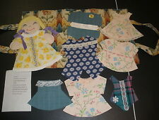 hand crafted doll & clothes LEARN TO PUT CLOTHES ON DOLL in carry case