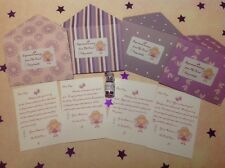 Personalised Tooth Fairy Letters Set, With Fairy Dust, Any Name, Purple Set