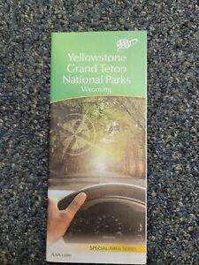 AAA Yellowstone Grand Teton National Parks Wyoming Travel Road Map