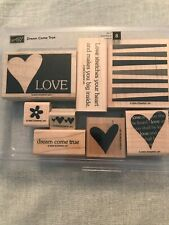 Stampin Up Dream Come True Set Of 8 Wood Mounted Rubber Stamp Su Scrapbooking