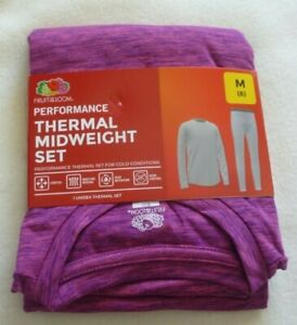New Girls  Medium Pink  (8) Performance Thermal Underwear Set Shirt Pants