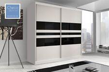 BRAND NEW MODERN SLIDING DOOR WARDROBE 6ft 8in (203cm) - F01 & WHITE SIDES