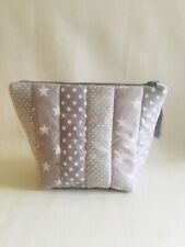 Handmade Quilted Wash Cosmetic Bag Waterproof Lining