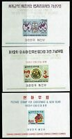 Korea SC# 535a, 543a and 548a, Mint Never Hinged -  Lot 031917