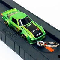 Hot Wheels HW Speed Graphics 2/10 Green Mazda RX-7 FB 1:64 Diecast Keychain Gift