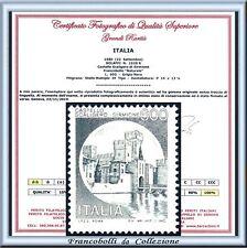 FAI TU IL PREZZO 1980 Italia Repubblica Castello NERO Varietà Naturale Certif **