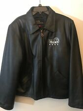 Leather Jacket Team Palms Mens Black Jacket, Size Large, Lucky Leather Inc