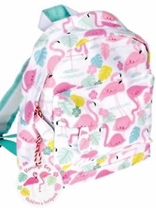 Flamingo bay pink rucksack backpack girls school nursery shopping gift present