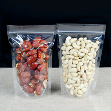 Clear Plastic for Zip Packaging Bags Lock Stand Up Pouches Resealable Food Grade