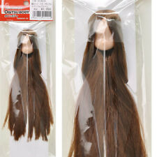 Obitsu 11cm Body bjd Dollfie Natural Head 01 Long Straight Brown Rooted Hair