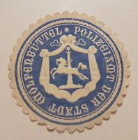 POLIZEIAMT DER STADT WOLFENBÜTTEL Siegelmarke Vignette (9355-5)