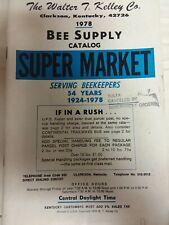 Vintage Catalog The Walter Kelley Co 1978 Bee Supply Catalog Super Market