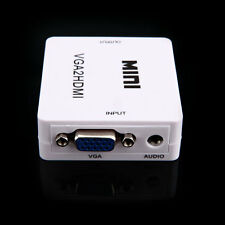 Computer PC VGA/Audio to TV HDMI Video Converter Switch Box Adapter