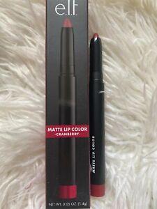 ELF Matte Lip Colour Lipstick Crayon Pen Lip Pencil in CRANBERRY 1.4G  NEW BOXED