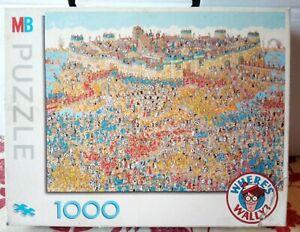 MB Wheres Wally Siege Of Troy Jigsaw Puzzle 1000 pce Trojan War Comic Waldo RARE