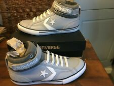 Converse All Star Chuck Taylor Grey Leather Hi Top Trainers UK 5 EU 38 NEW