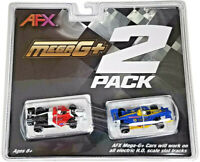 Tomy AFX Mega G+ Formula Car Twin Pack HO Scale Slot Cars (2 cars) NIB #22017