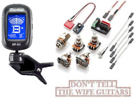 EMG Solderless Conversion Wiring Kit 1-2 Active Pickups SHORT SHAFT Pots & TUNER