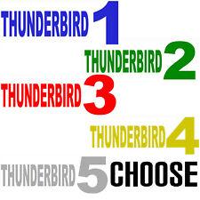 Thunderbirds Thunderbird Text 1 2 3 4 5  (2x) Vinyl Decal Sticker Car Van Tablet