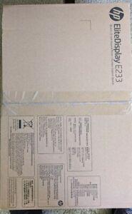 "HP EliteDisplay E233 23"" Full HD IPS LED Monitor - Silver"