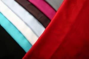 Fine Weave light weight linen summer dress Blouse skirt plain red fabric