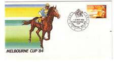 "1984 PictPMK. Melbourne Cup. APO Cover. PMK Horses & Horseshoe. ""FLEMINGTON"""