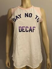 JUNK FOOD  Say NO to Decaf  T-Shirt Size M