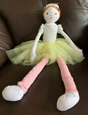 Vintage Pottery Barn Kids 27� Pink Fairy Ballerina Princess Plush Toy Doll 2012
