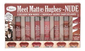 theBalm Meet Matte Hughes Mini Kit 8 Nude. Lipstick