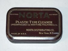 Antique Vintage NORTA Plastic Type Cleaner Typewriter Advertising Tin (New York)