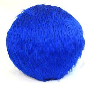 Flat Round Shape Cover*Faux Fur Curly Papasan Floor Seat Chair Cushion Case*Fs1