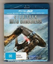 Star Trek Into Darkness 3D Blu-ray + Blu-ray + DVD - Brand New & Sealed