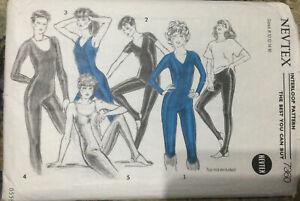 Vtg 80s Nevtex Leotard Dancewear Sewing Pattern In 5 Versions Size 8-10-12-14-16