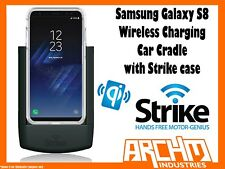STRIKE ALPHA SAMSUNG GALAXY S8 CAR CRADLE WITH STRIKE CASE WIRELESS CHARGING