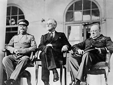 PRINT POSTER VINTAGE PHOTO WAR WWII YALTA STALIN ROOSEVELT CHURCHILL NOFL0479