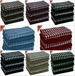 8 x Pack Egyptian Cotton Super Soft and Absorbent Dish Bar Tea Towels