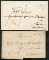 Mecklenburg-Schwerin,2 Auslandbriefe nach Gudow(Holstein), Altona(Hamburg)
