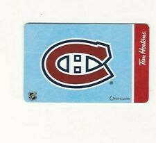 TIM HORTONS MONTREAL CANADIENS GIFT CARD NEW