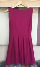 Topshop Fit and Flare Dress Size 6 Deep Pink Cerise