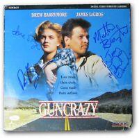 Guncrazy Cast Signed Autographed Laserdisc Cover Drew Barrymore JSA AA53693