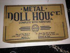 LOUIS MARX  METAL DOLL HOUSE ORIGINAL BOX  1459