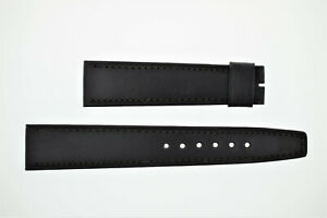 OMEGA NOS Vintage Leather Watch Strap Black 19/16 19mm (B207)