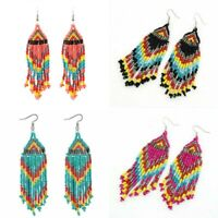 Bohemian Party Ethnic Boho Tassel Women  Long Earrings Beads Dangle Drop Jewelry