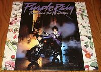 PRINCE & REVOLUTION MUSIC FROM THE MOTION PICTURE PURPLE RAIN LP WITH POSTER
